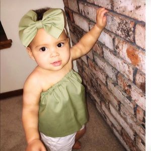 Olive green baby tube top